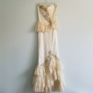 80s Formal Lace Gown